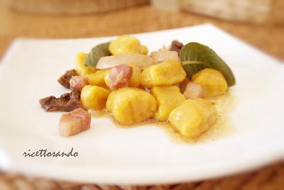 Gnocchi di zucca ricetta primi piatti vegetariani