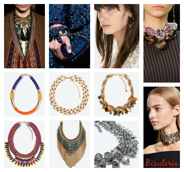 Moda accesorios collares otono invierno 2014 2015
