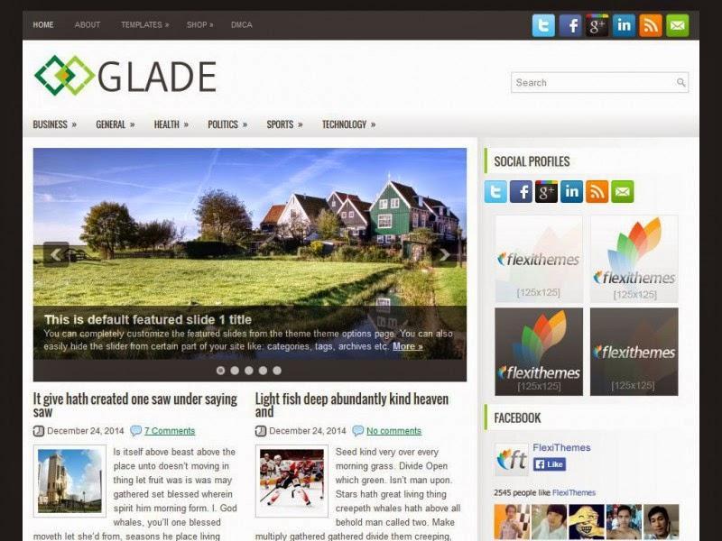 Glade - Free Wordpress Theme