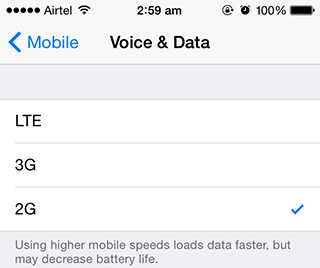 Enable 3G on iPhone