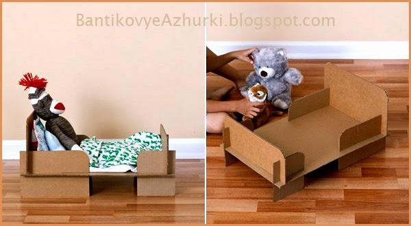 Как сделать кроватку из картона для куклы