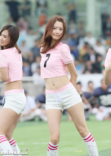 Im Yoona Korean Cute Girl Singer Sexy Photo at Namyangju Central Football Game 5