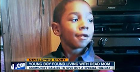 4 year old boy spends two days with mom's dead body