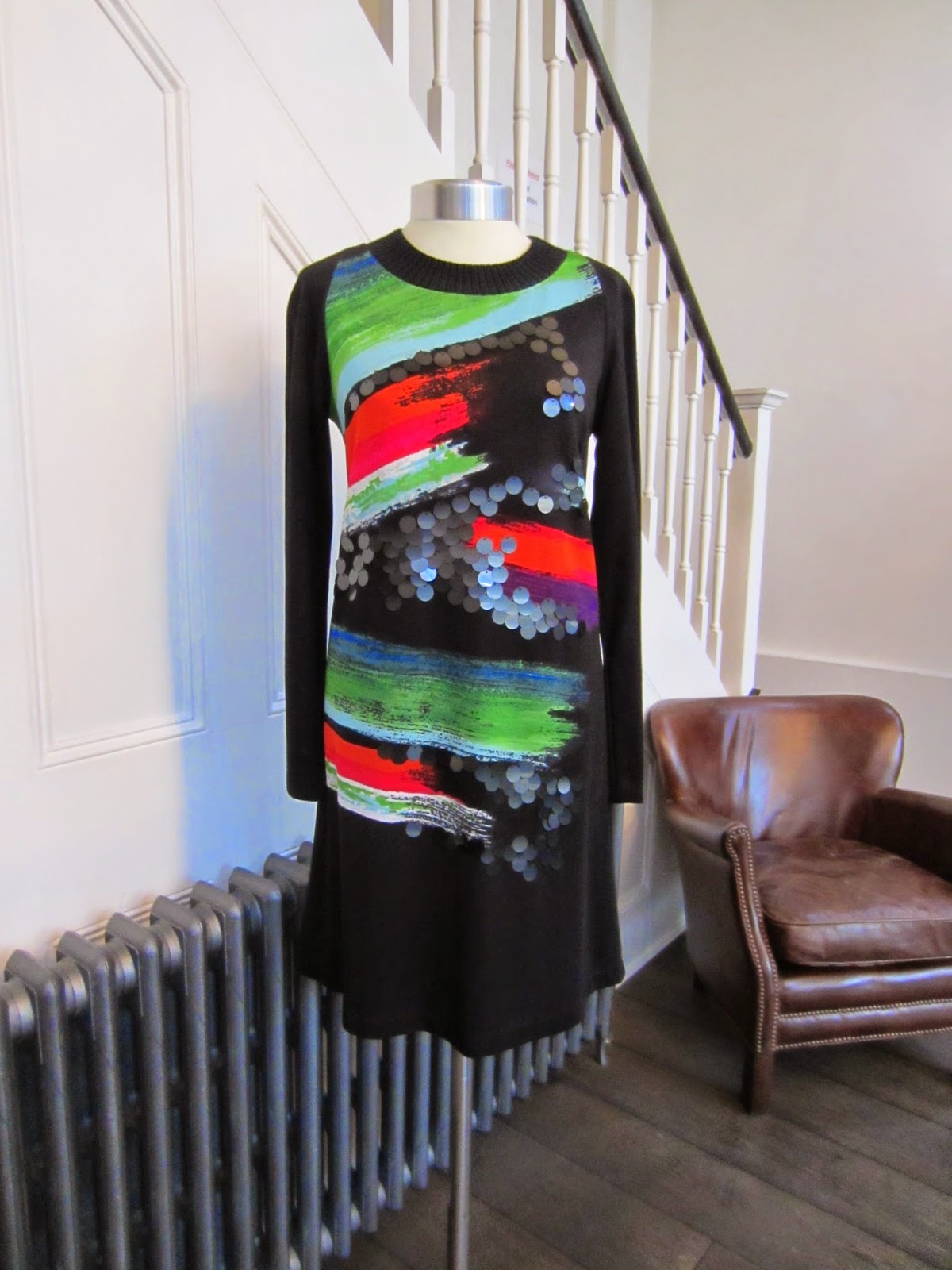 Didier Parakian Black/Multicoloured Dress