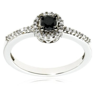 Black Diamond Ring For