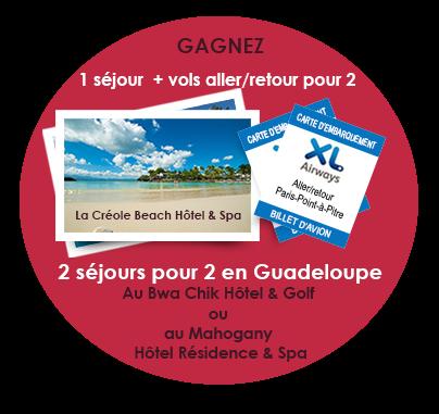3 séjours d'1 semaine en Guadeloupe