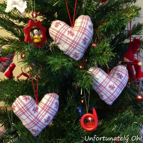 scandi christmas heart decorations