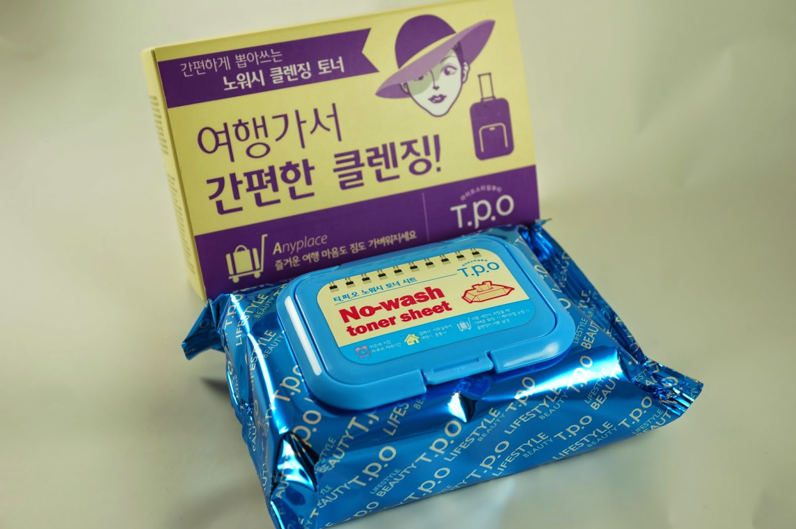 Memebox #25 Traveller's Traveler's Beauty Kit Unboxing Review T.P.O. TPO No-Wash No Wash Toner Sheet Cleansing Wipe