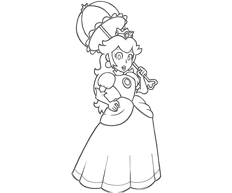 Printable Princess Peach Peach Character Coloring Pages title=