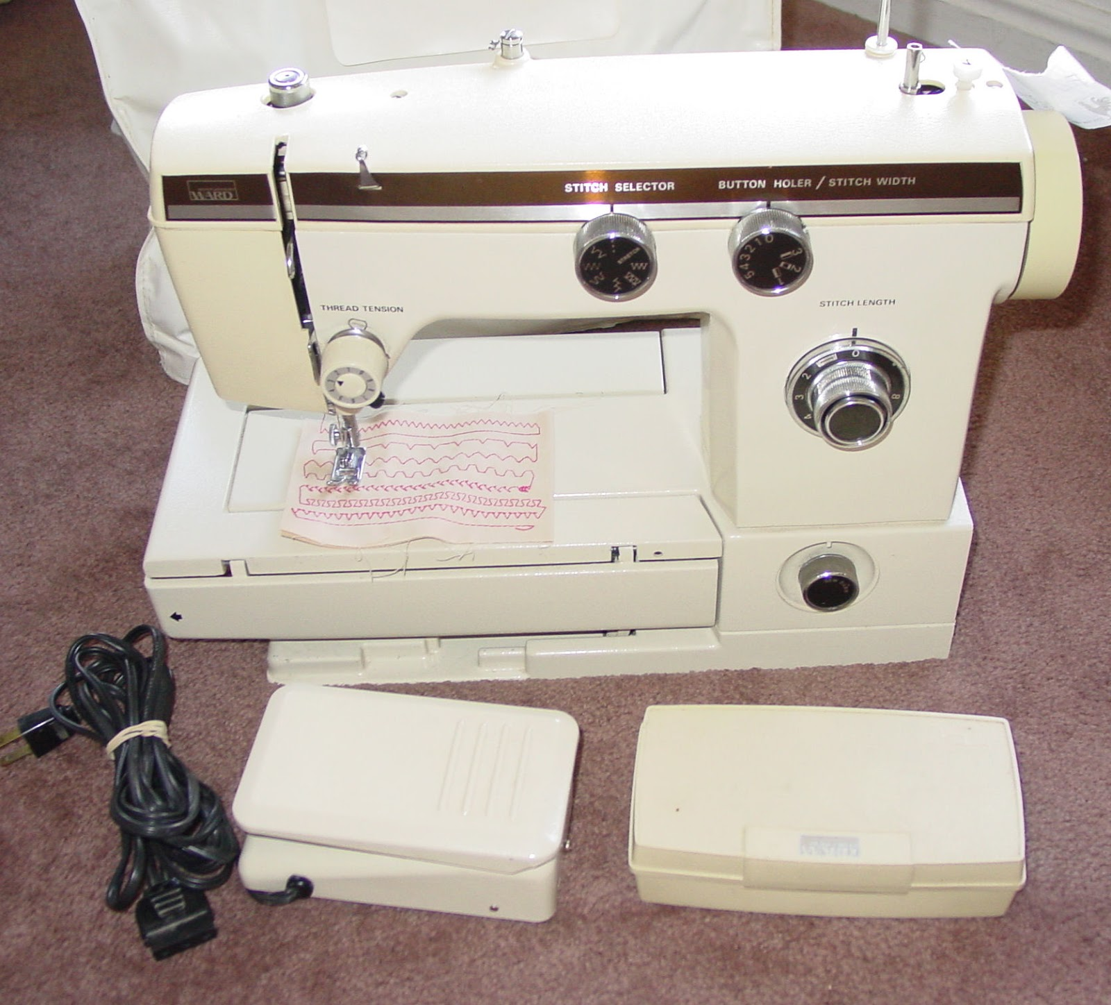 montgomery ward sewing machine models