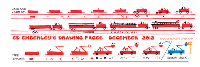 Ed Emberley's Fire Engine Drawing Page