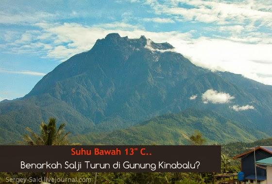 Benarkah Salji Turun di Gunung Kinabalu?