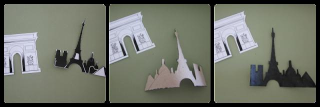 Scrapbooking ecológico: cómo hacer siluetas de cartón de París