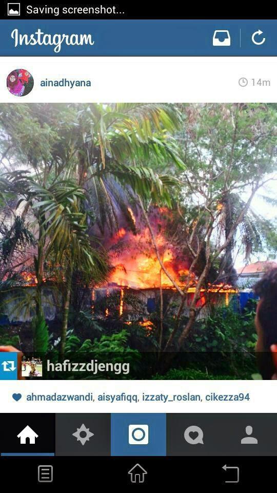Foto Kebakaran di Politeknik Ungku Omar