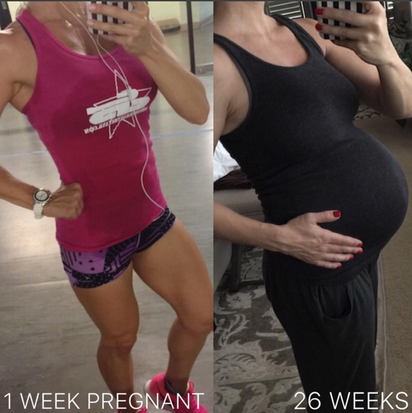 Staying healthy and fit during pregnancy - 26 weeks pregnant and continuing to workout with the doctor's approval