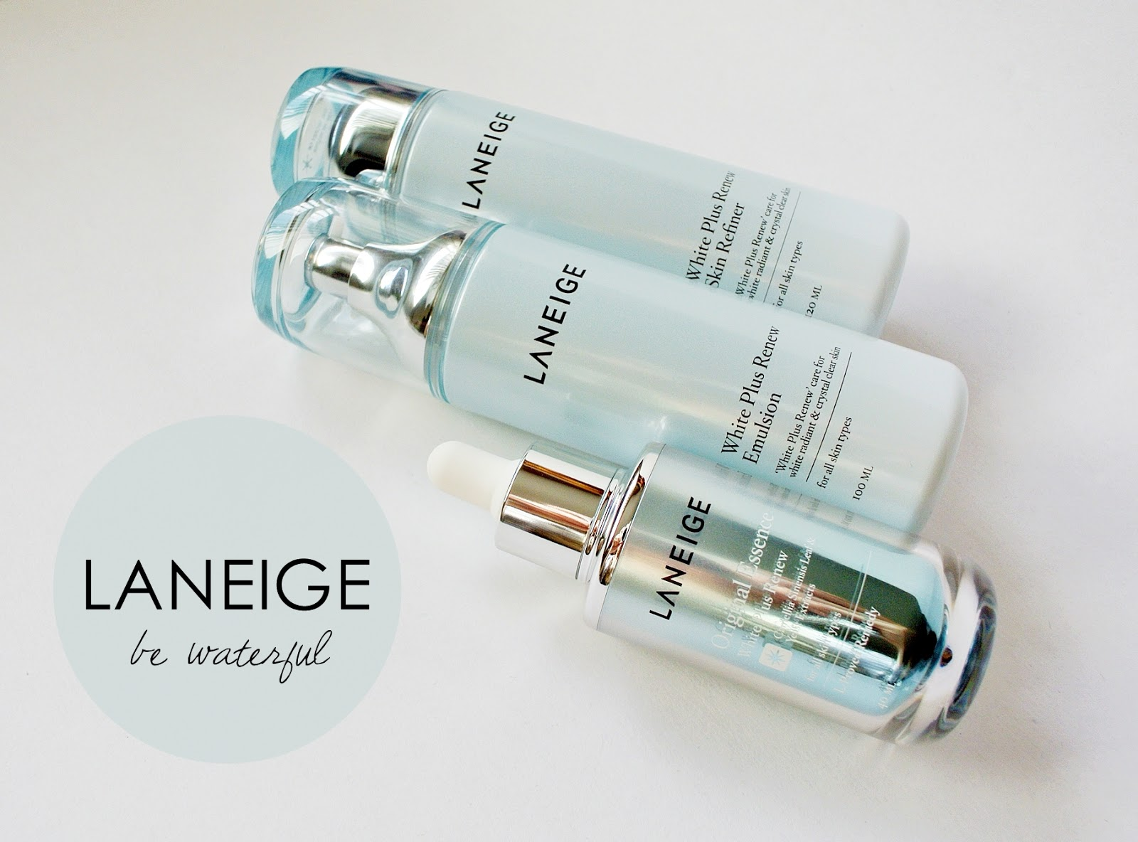 Thebunniehole Vancouver Youtuber Blogger Review Laneige White Plus Renew Trial Kit 4 Items Of Picking Up Some My First Asian Skincare Products In Pretty Bottles Teenage Years And Cradling Them Home Like Little Treasures