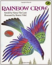 http://www.amazon.com/Rainbow-Crow-Dragonfly-Books-Nancy/dp/0679819428/ref=sr_1_1?ie=UTF8&qid=1393823317&sr=8-1&keywords=rainbow+crow
