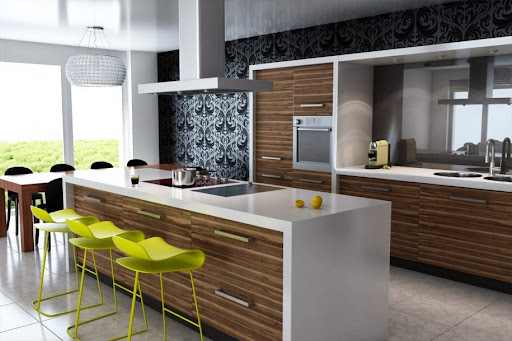 Modern Kitchen Design With Mini Bar