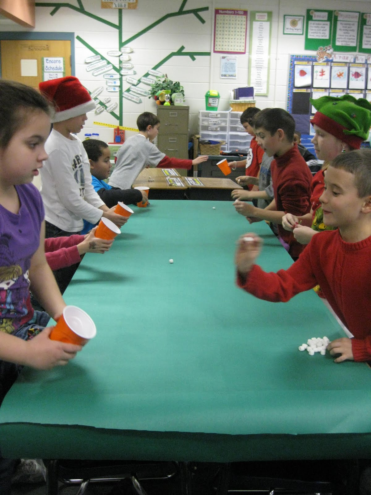 Exceptional 3rd Grade Christmas Party Ideas Part - 1: Next Up Was Stacking Snowmen. Here They Had To Build As Many Snowmen As  They Could In A Minute With The Minimarshmallows.