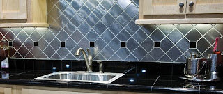 metal kitchen tiles