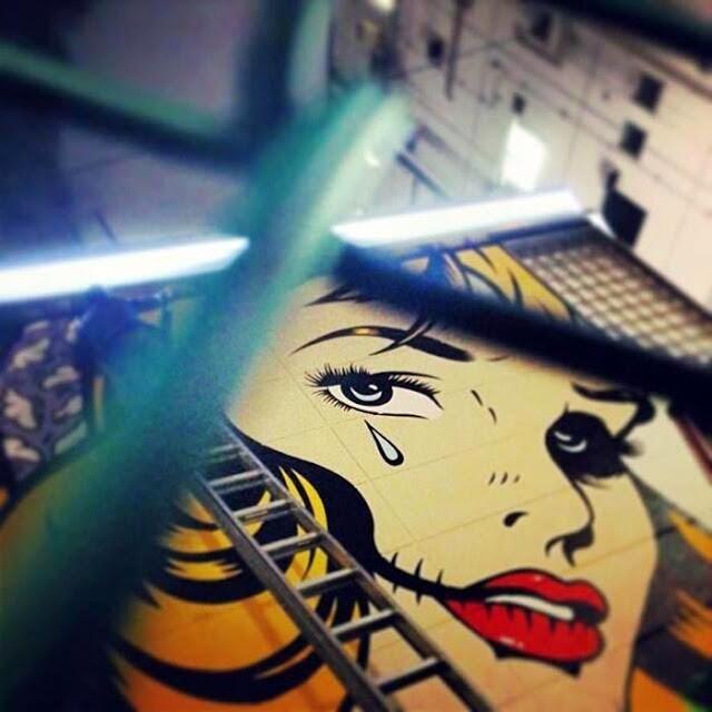 New Street Art Piece By British Stencil Artist D*Face in Shibuya, Tokyo, Japan. 4