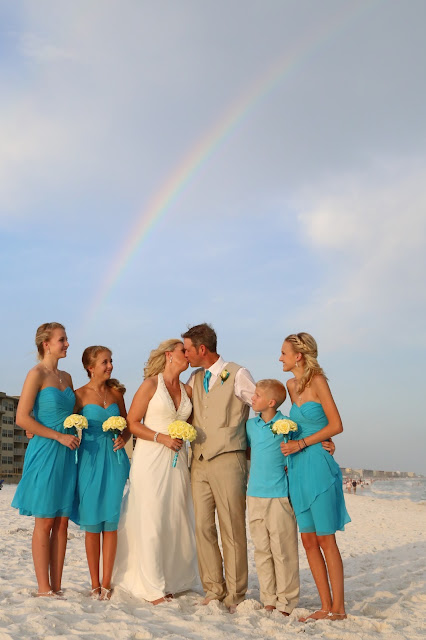 malibu blue bridesmaid dresses for your destination beach wedding in Florida