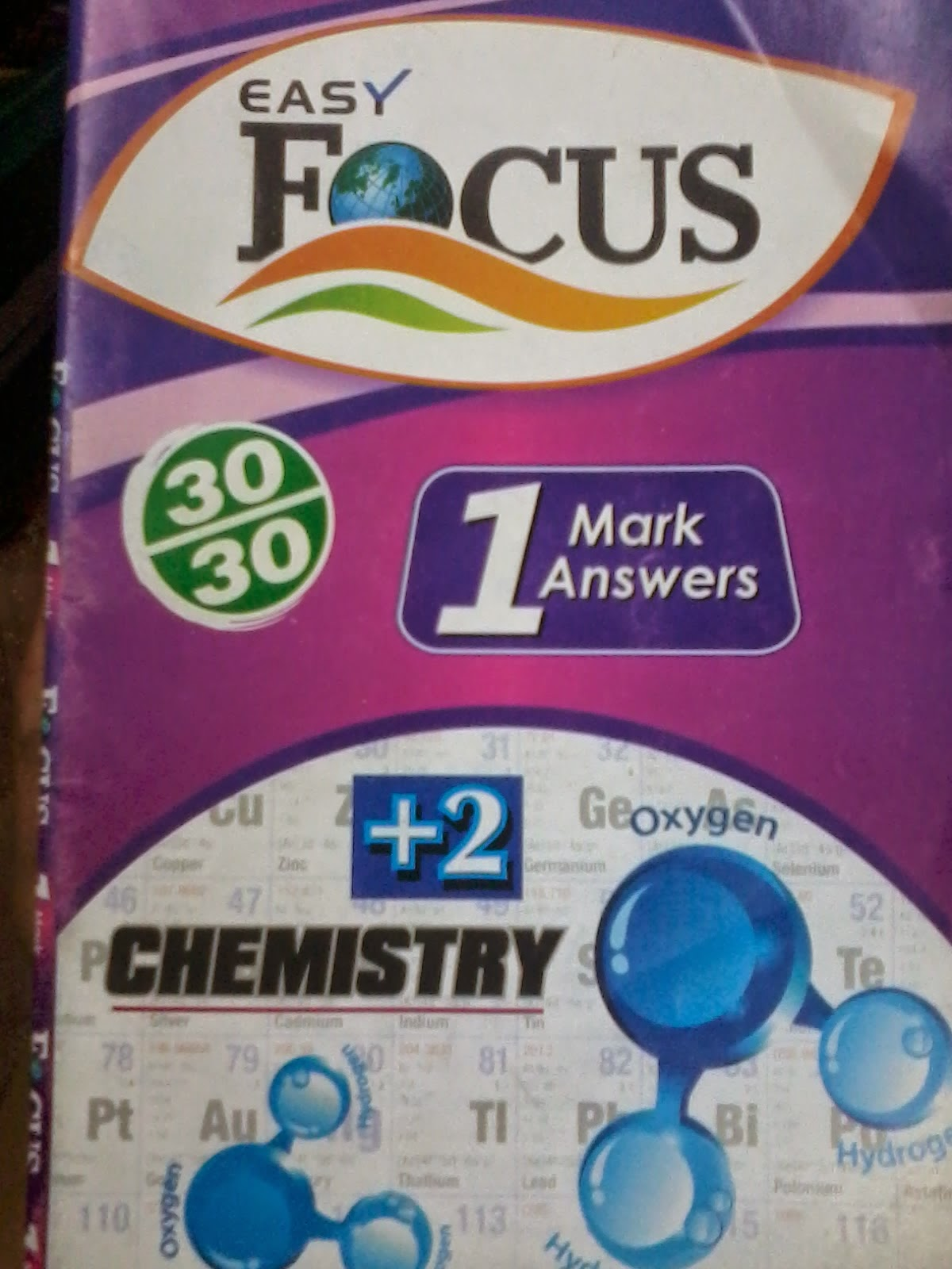 +2 Chemistry 1 Marks Question  &  Answer  by  Easy  Focus