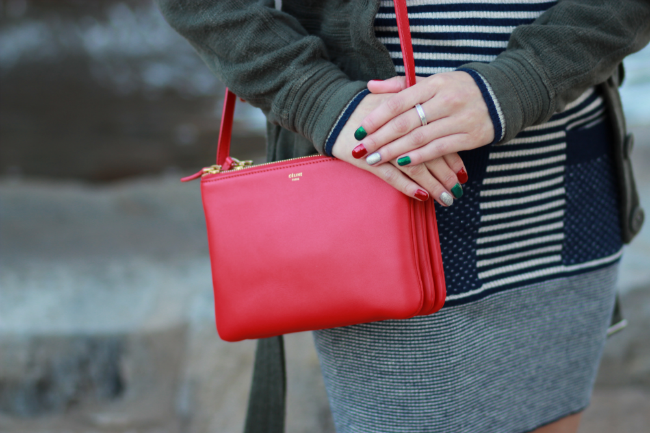 red celine bag handbag michael kors bedford