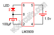 Flashing LED Circuit Diagram