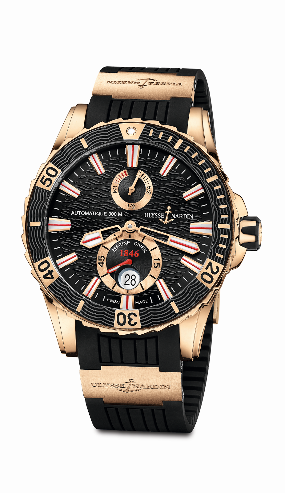 Часы ulysse nardin marine chronometer 300 meters 263 33 #888