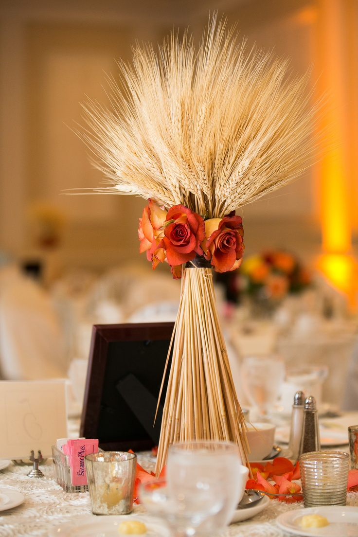 Things she loves pittsburgh wedding planner wheat for Wheat centerpieces