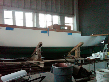 After - Bolger 38&#39; Sailboat Hull, Complete Refinish
