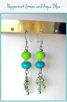 Easy Beaded Two-Tone Earrings - Free Beading Pattern