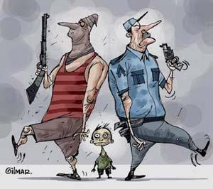Polícia e Bandido - Um Asno
