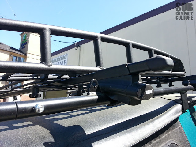 "Thule 450 Crossroads feet with 58"" Inno load bars."