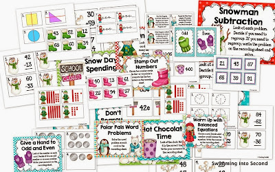 http://www.teacherspayteachers.com/Product/Winter-Wonderland-math-centers-1041233
