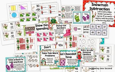 http://www.teacherspayteachers.com/Product/Winter-Wonderland-math-centers-1041233