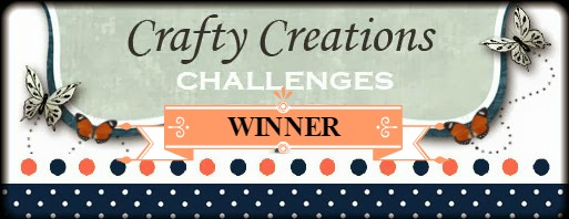Winner at Crafty Creations Challenge