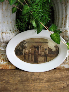 ironstone and photo print