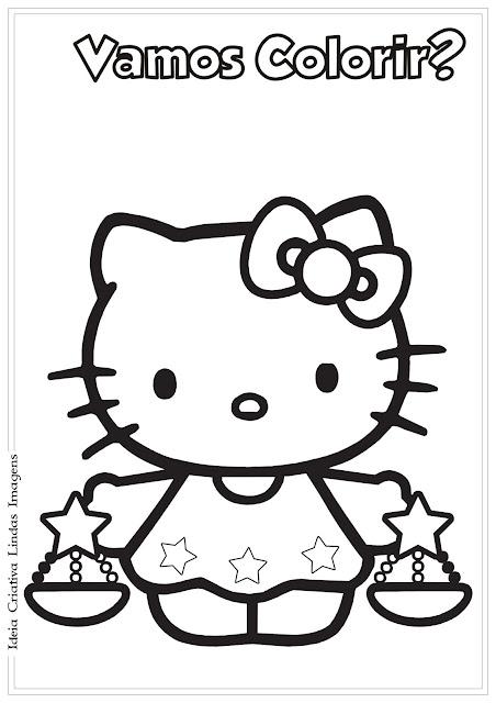Desenho Hello Kitty colorir