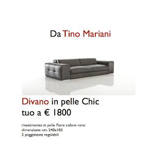 Acquista chic divano in pelle in pronta consegna risparmi il 56 tino mariani - Miglior divano letto per uso quotidiano ...