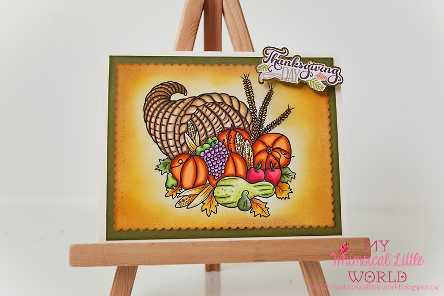 thanksgiving, digi stamp digital stamp, paola jofre, my whimsical little world