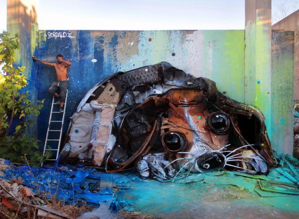 Bordalo II Big Trash Animal