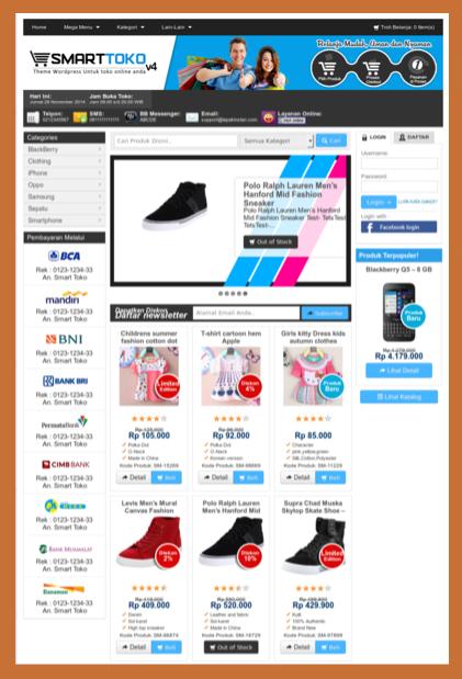 Template toko online keren