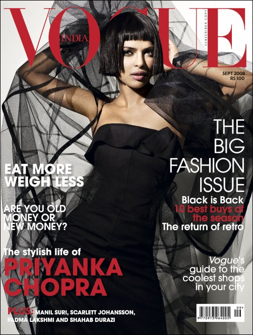 Bollywood celebrity on cover of vogue magazine