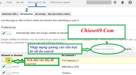 Loại bỏ mạng quảng cáo trả CPC thấp trong Google Adsense 5