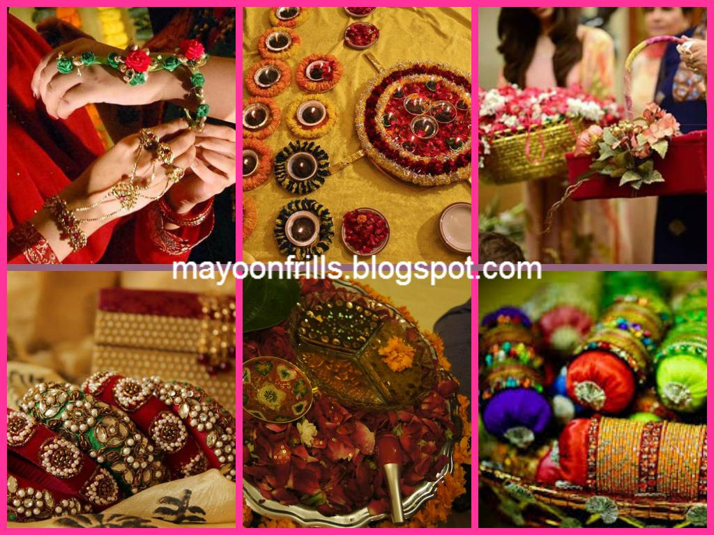 Mehndi Ceremony Gifts : Dosti gana mayoon frills