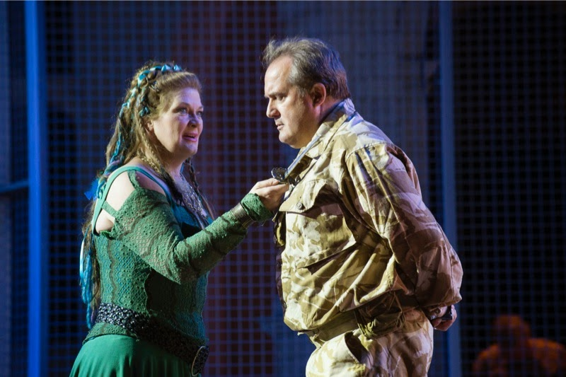 Yvonne Howard and Joseph Wolverton, Bellini's Norma at Opera Holland Park; photo credit Fritz Curzon