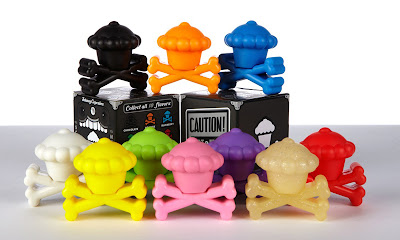 Johnny Cupcakes Cupcake & Crossbones Blind Box Mini Vinyl Figures and Packaging