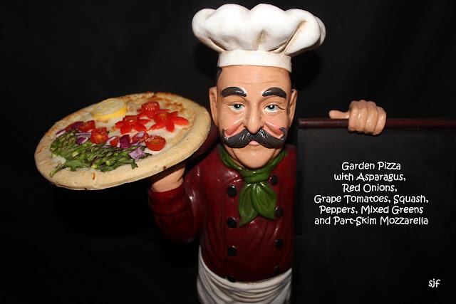 Garden Pizza with Mozzarella, Asparagus, Peppers, Tomatoes, Mixed ...